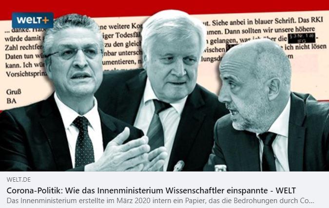 Le gouvernement allemand a utilisé des scientifiques pour accroître la peur contre la COVID-19 à des fins politiques.